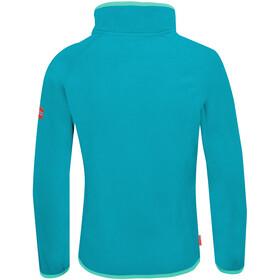 TROLLKIDS Nordland Sweat-shirt Demi-zip Enfant, light petrol/dark mint
